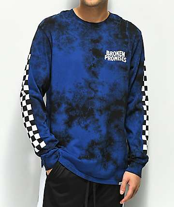 Broken Promises Midnight 2 Tone Tie Dye Long Sleeve T-Shirt