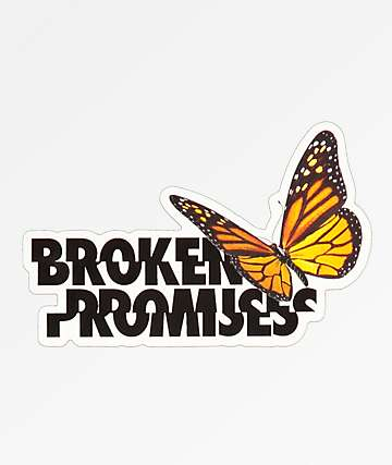 Broken Promises Monarch Sticker