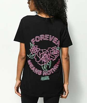 Broken Promises Neon Black T-Shirt