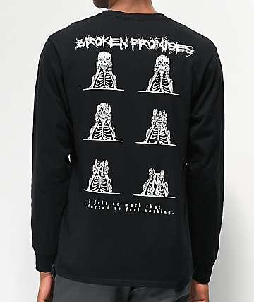 Broken Promises Numb Black Long Sleeve T-Shirt