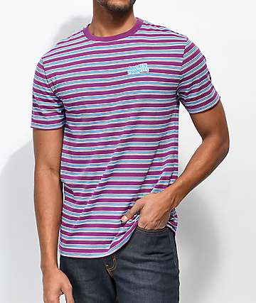 Broken Promises Paranoid Striped Plum T-Shirt