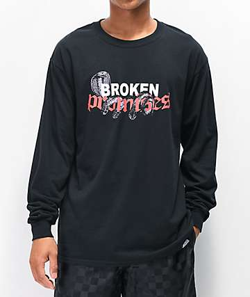 Broken Promises Pressure Black Long Sleeve T-Shirt