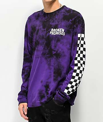 Broken Promises Purple Punch Tie Dye Long Sleeve T-Shirt