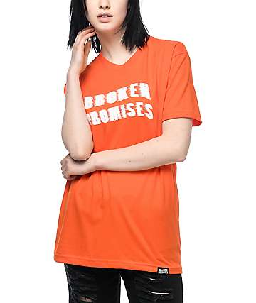 Broken Promises Scrape Logo Orange T-Shirt