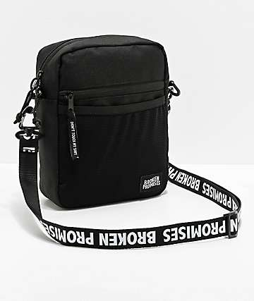 Broken Promises Side Black Shoulder Bag