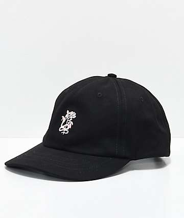 Broken Promises Silhouette Black Strapback Hat