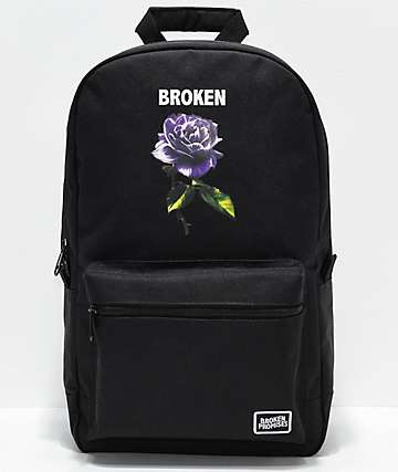 Broken Promises Thornless Black Backpack