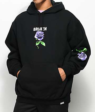 Broken Promises Thornless Black Hoodie