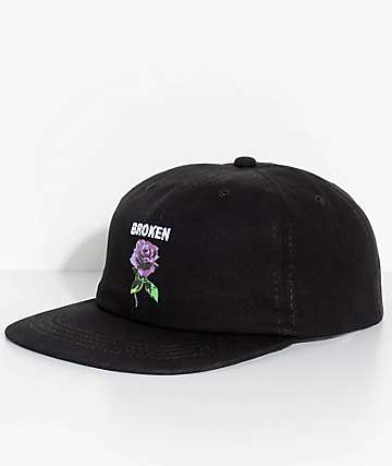 Broken Promises Thornless Black Strapback Hat