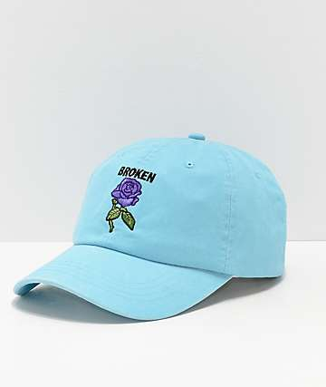 Broken Promises Thornless Blue Strapback Hat
