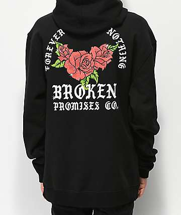 Broken Promises Watermelon Sparkle Black Hoodie