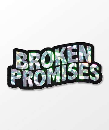Broken Promises Wave Logo Sticker