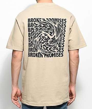 Broken Promises Whirlpool Sand T-Shirt