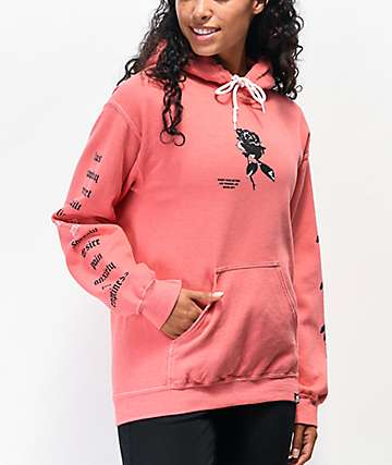 Broken Promises Wired Rose Hoodie