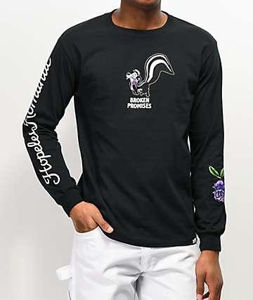 Broken Promises x Pepe Le Pew Pepe Thornless Black Long Sleeve T-Shirt