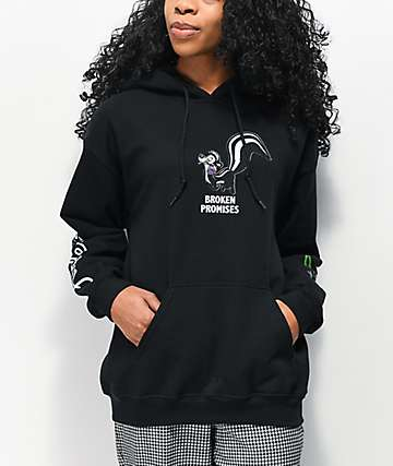 Broken Promises x Pepe Le Pew Thornless Black Hoodie