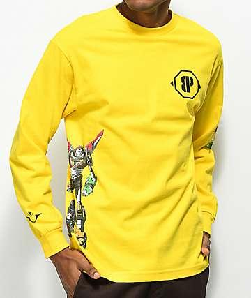 Brooklyn Projects Voltron Defender Hazard Yellow Long Sleeve T-Shirt