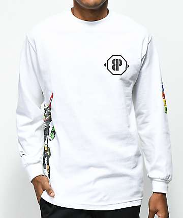 Brooklyn Projects Voltron Defender White Long Sleeve T-Shirt