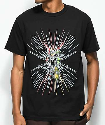 Brooklyn Projects Voltron Power Force camiseta negra
