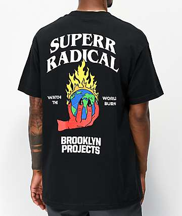 Brooklyn Projects x Superrradical Burn Black T-Shirt