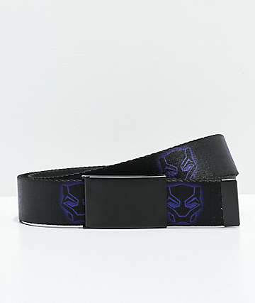 Buckle Down Black Panther Web Belt