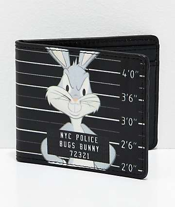 Buckle-Down Bugz Mug Shot Black Bi-Fold Wallet