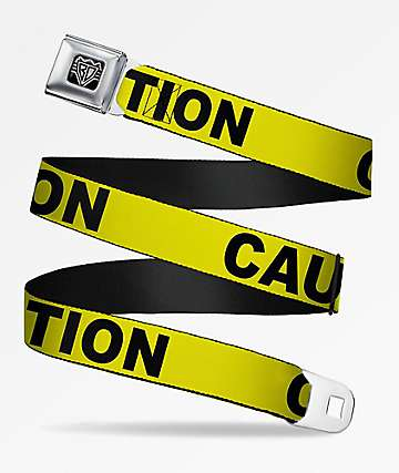 Buckle Down Caution Yellow Belt