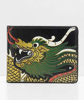 Buckle Down Dragon Black Bifold Wallet