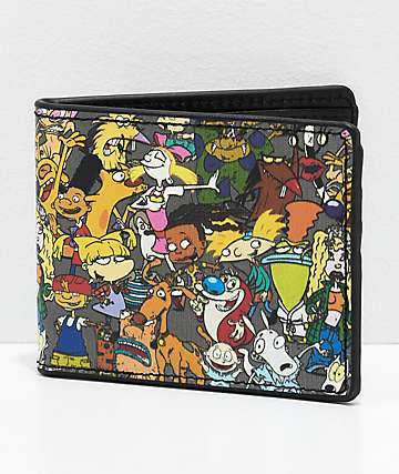 Buckle-Down Nick Cartoon Collage cartera plegable