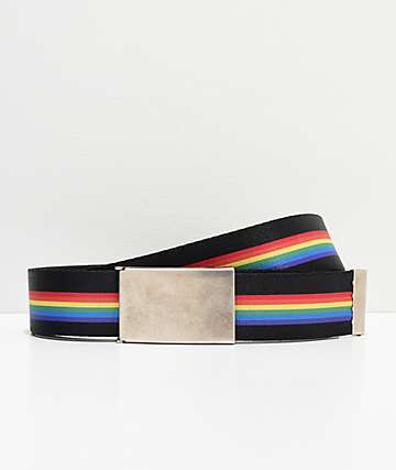 Buckle Down Rainbow Web Belt