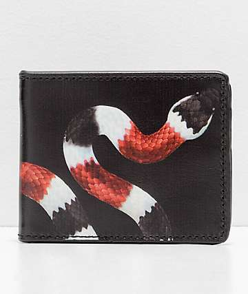 Buckle Down Snake Black Bifold Wallet