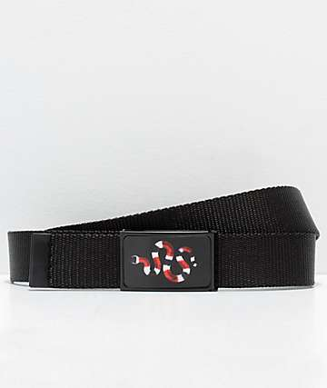 Buckle Down Snake Black Web Belt