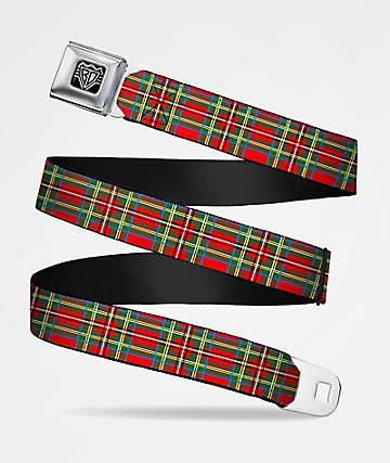 Buckle Down Tartan Red Plaid Belt