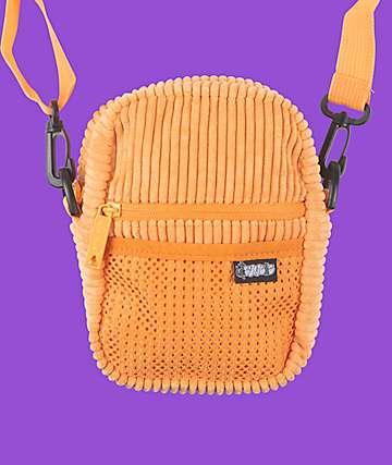 Bumbag Jiff Compact Orange Corduroy Shoulder Bag