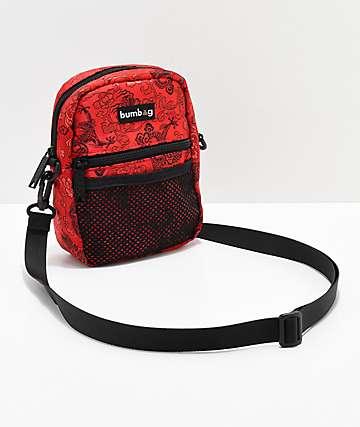 Bumbag Shaolin bolso de hombro rojo