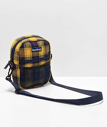 Bumbag bolso de hombro de tartán amarillo