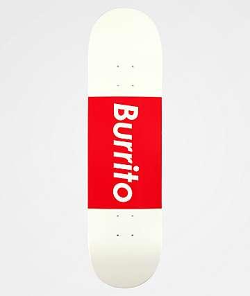 "Burrito Logo Grande 8.25"" Red & White Skateboard Deck"