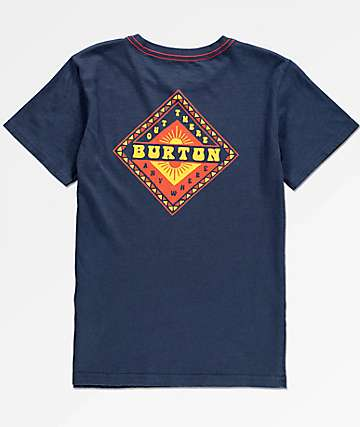 Burton Boys Anchor Point Navy T-Shirt