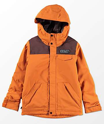 Burton Boys Dugout Sunset Chestnut 10K Snowboard Jacket