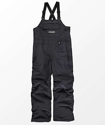 Burton Boys Skylar True Black 10K Snowboard Bib Pants