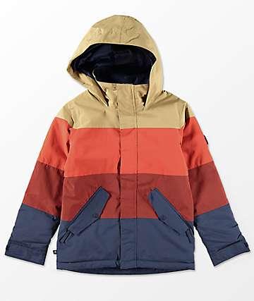 Burton Boys Symbol Fired Mood Indigo 10K Snowboard Jacket