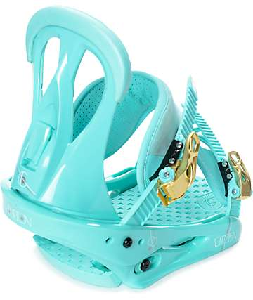 Burton Citizen Womens Teal Snowboard Bindings
