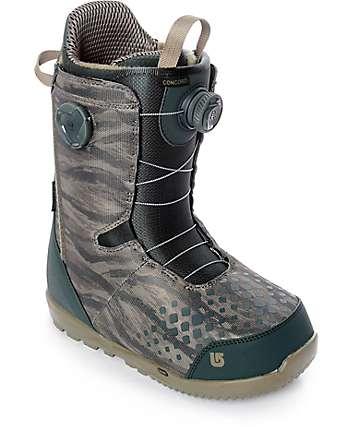 Burton Concord Tiger Camo Boa Snowboard Boots