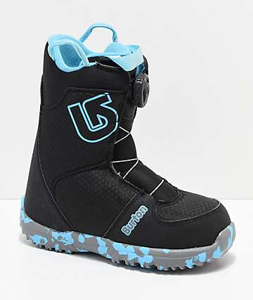 Burton Kids Grom Boa Black Snowboard Boots 2019