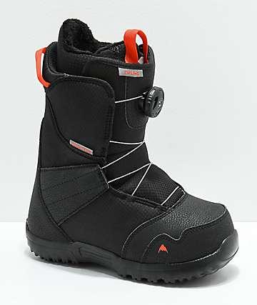 Burton Kids Zipline Boa Black Snowboard Boots 2019