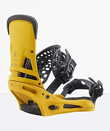 Burton Malavita 2019 fijaciones de snowboard amarillos