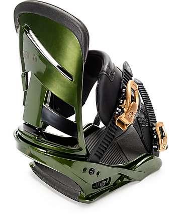 Burton Mission Track Day Green ReFlex Snowboard Bindings