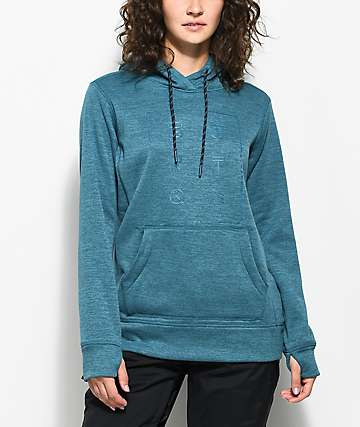 Burton Quartz Tech Fleece Jaded Heather Hoodie