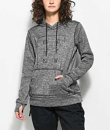 Burton Quartz Tech Fleece True Black Heather Hoodie