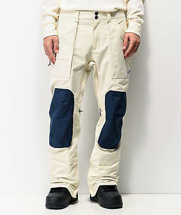Burton Southside Almond Milk & Blue 10K Snowboard Pants